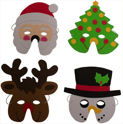 Kerst Masker Foam 4ass
