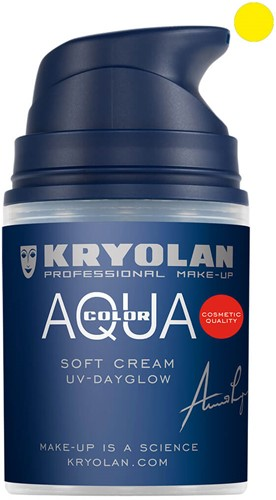 Aquacolor Softcream 50ml Kryolan UV-Geel