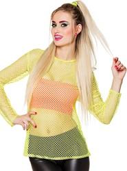 Netshirt Neon Geel voor dames (One Size)