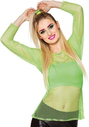 Netshirt Neon Groen voor dames (One Size)
