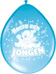 Ballonnen Hoera een Jongen Folatex