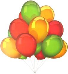 Raamsticker Ballonnen Rood-Geel-Groen (35x50cm)