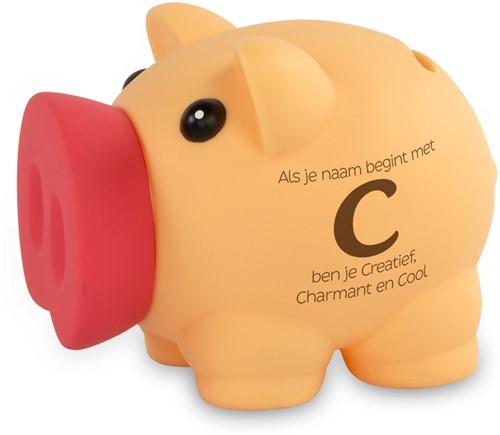 Spaarvarken Als Je Naam Begint Met C