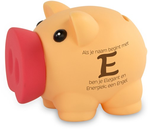 Spaarvarken Als Je Naam Begint Met E