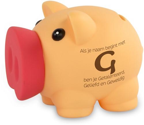 Spaarvarken Als Je Naam Begint Met G