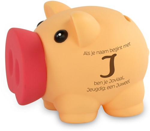 Spaarvarken Als Je Naam Begint Met J