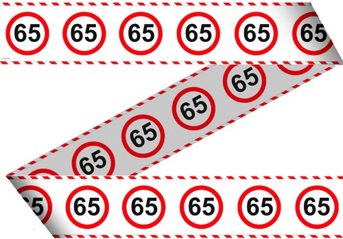 Markeerlint 65 Jaar Verkeersbord