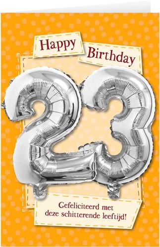Leeftijd Ballonnen Giftcard 23 jaar 30cm