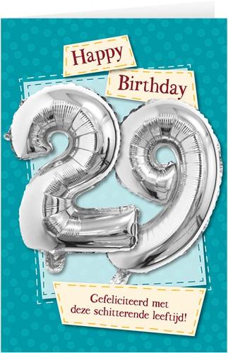Leeftijd Ballonnen Giftcard 29 jaar 30cm