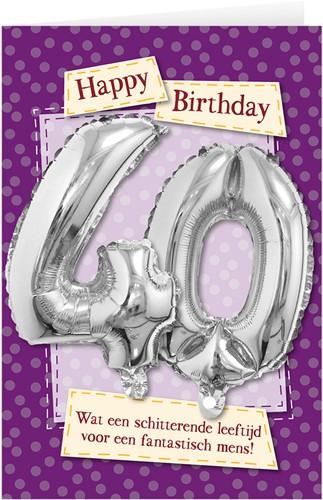 Leeftijd Ballonnen Giftcard 40 jaar 30cm