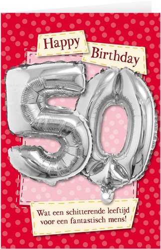 Leeftijd Ballonnen Giftcard 50 jaar 30cm