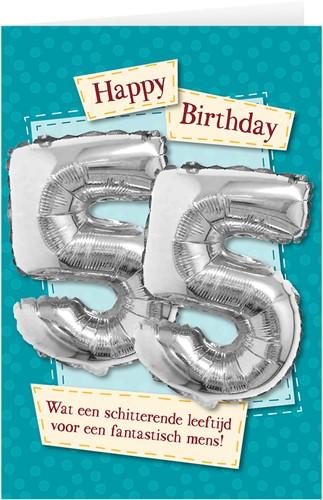 Leeftijd Ballonnen Giftcard 55 jaar 30cm