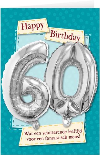 Leeftijd Ballonnen Giftcard 60 jaar 30cm