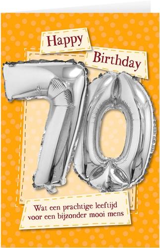 Leeftijd Ballonnen Giftcard 70 jaar 30cm