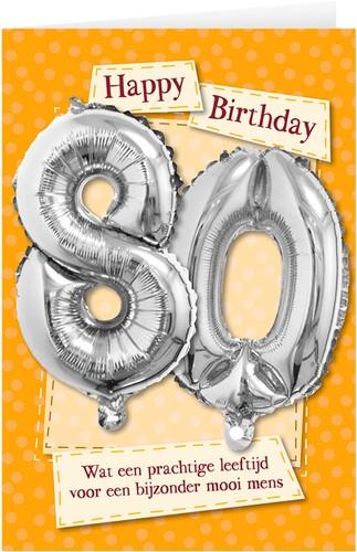 Leeftijd Ballonnen Giftcard 80 jaar 30cm