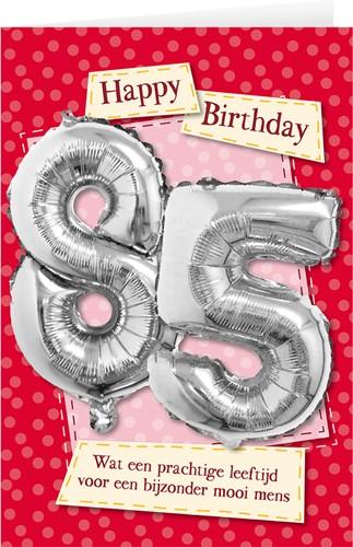 Leeftijd Ballonnen Giftcard 85jaar 30cm