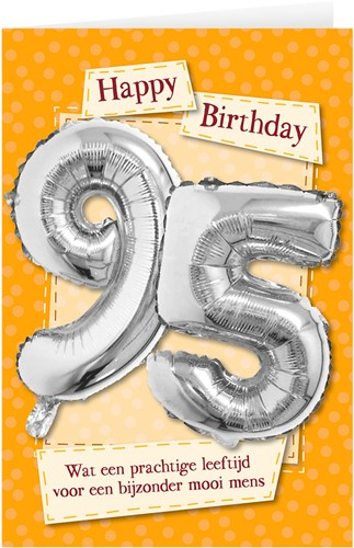 Leeftijd Ballonnen Giftcard 95 jaar 30cm