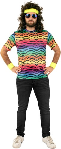 T-Shirt Neon Tijgerprint
