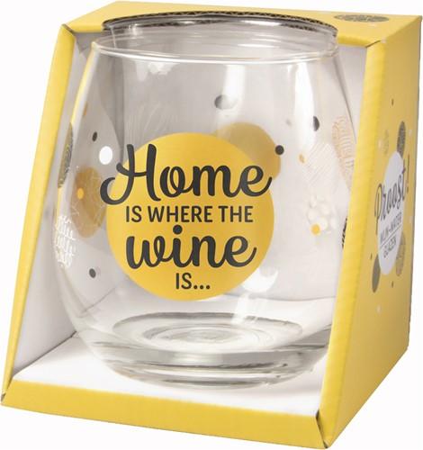 Wijn/Waterglas Proost Home Is