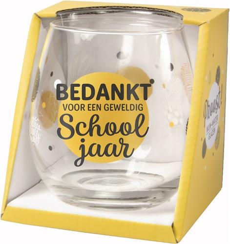 Wijn/Waterglas Bedankt Voor Een Geweldig Schooljaar