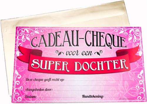Cadeau Cheque Super Dochter