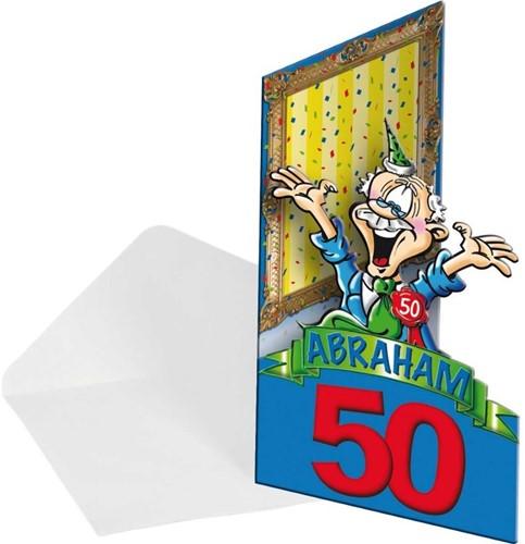 Uitnodigingen 50 jaar Abraham 8st