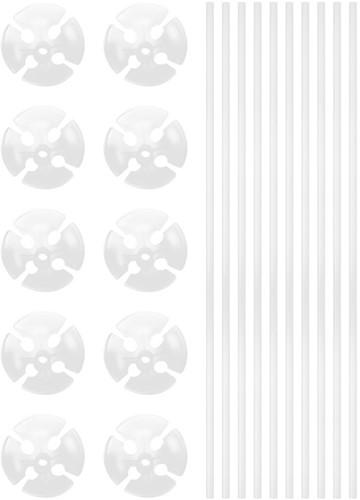 Ballonstokjes Wit (per stuk)
