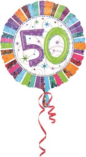 Folieballon 50th B-day Prismat 45cm