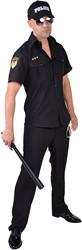 Politie Hemd Zwart voor heren