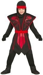 Kinderkostuum Ninja Red Dragon