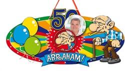 Deurbord Abraham 3D 53x26cm
