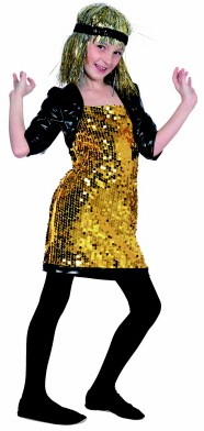 Glitter Girl Goud/Zwart