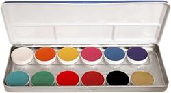 Aquacolor Kryolan Palet FP 12 kleuren