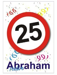 Raamsticker 25 - Halve Abraham (35x55cm)