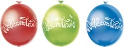 Ballonnen Welkom Thuis Regenboog 10 st.
