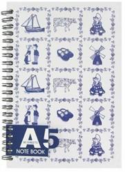 Blue tiles Notebook A5