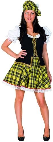 Dameskostuum Sexy Schotse Luxe Geel