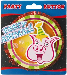 3D Button Party Animal