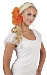 Haarclip Bloem Groot Oranje
