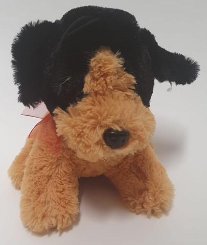 Pluche hondje 18 cm licht bruin