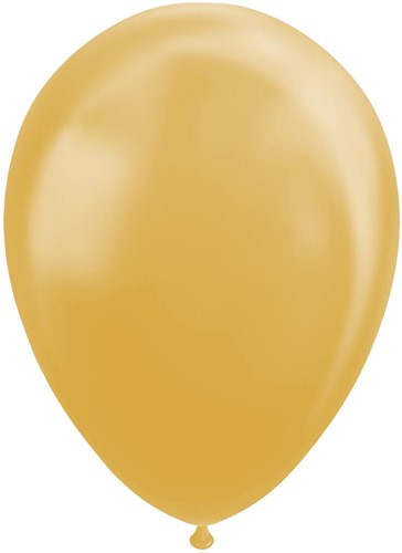 Ballonnen Metallic Goud 30cm - 100 stuks