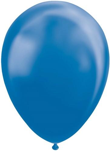 Ballonnen Metallic Blauw 30cm - 100st