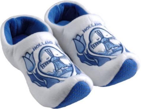 Klompsloffen Delftsblauw