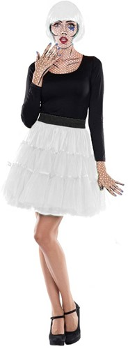 Tulen Petticoat Wit Rok