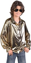 Kinder Blouse Folie Metallic Goud