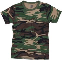 Leger T-Shirt Camouflage voor kinderen