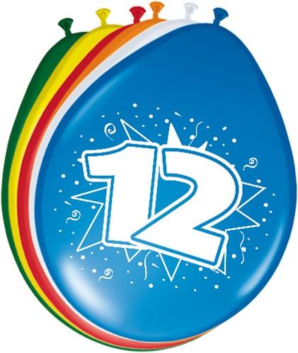 Ballonnen 12 jaar 8st
