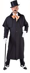 Zwarte Koetsiers Mantel voor heren