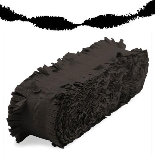 Crepeguirlande Zwart Brandveilig (24m)