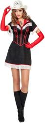 Damesjurkje Cowgirl Zwart/Rood